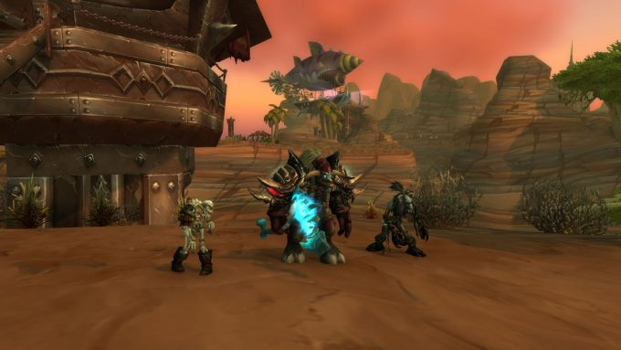 A Tauren death knight in World of Warcraft