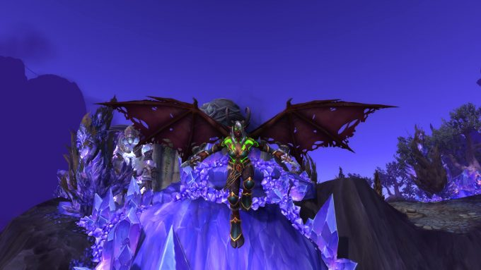 A demon hunter character in World of Warcraft