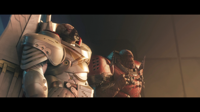 A cutscene in Destiny 2