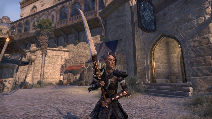 My sorcerer showing off her new outfit in Elder Scrolls Online