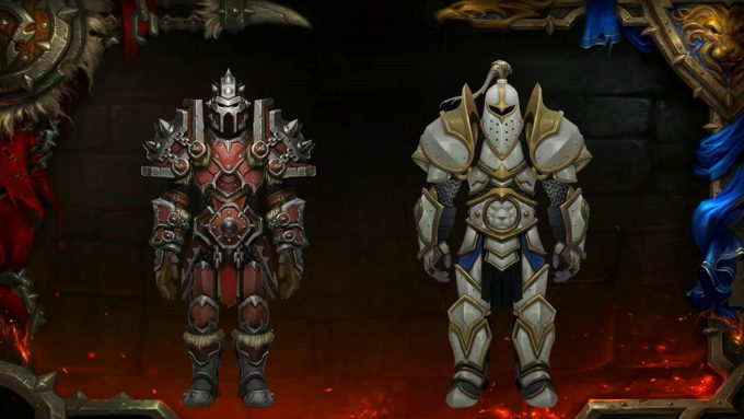 Horde and Alliance armor in World of Warcraft's upcoming Battle for Azeroth expansion