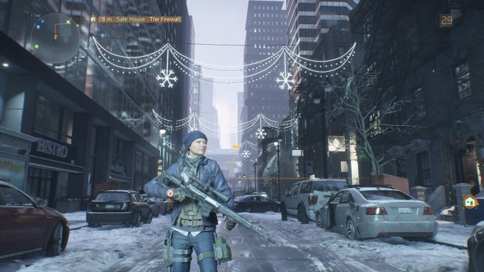 A shot from the MMO shooter The Division