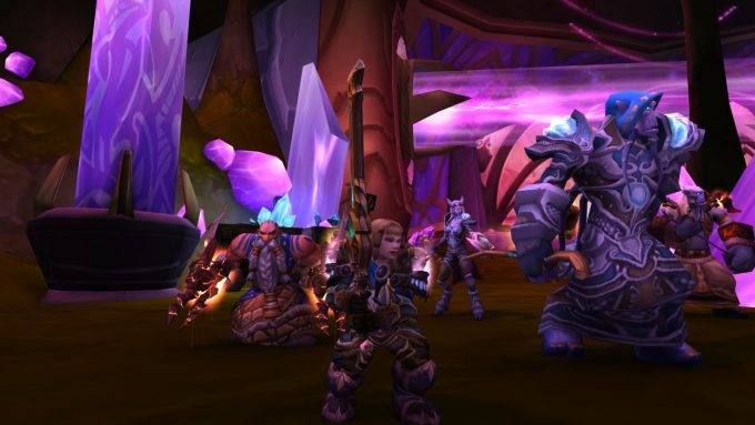 A party of characters in World of Warcraft