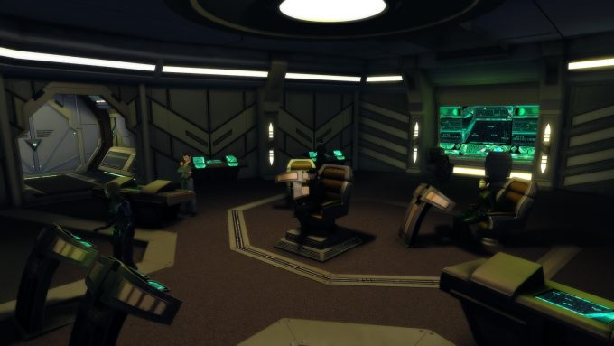 The interior of a player ship in Star Trek: Online