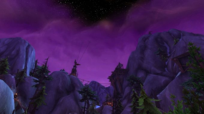 A quest using phasing technology in World of Warcraft