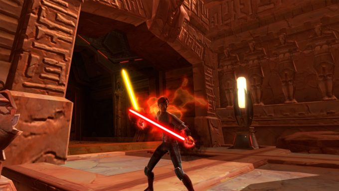 A newly created Sith warrior in Star Wars: The Old Republic