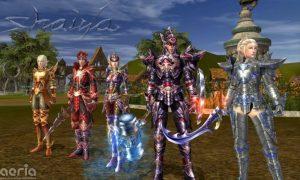 A promotional image for the fantasy MMORPG Shaiya