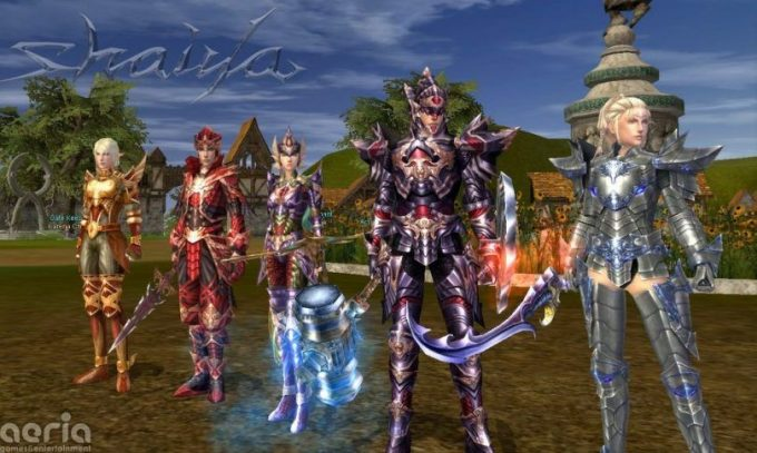 A promotional image for the fantasy MMORPG Shaiya