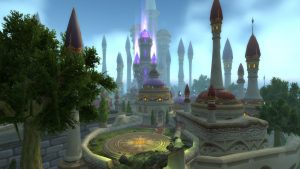 The updated city of Dalaran from World of Warcraft's Legion expansion