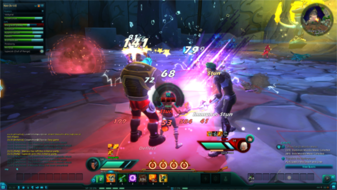The chaotic PvP combat of WildStar