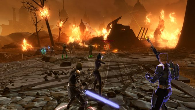 A screenshot from the Knights of the Eternal Throne expansion for Star Wars: The Old Republic.