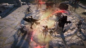 Fighting open world mobs in Black Desert Online