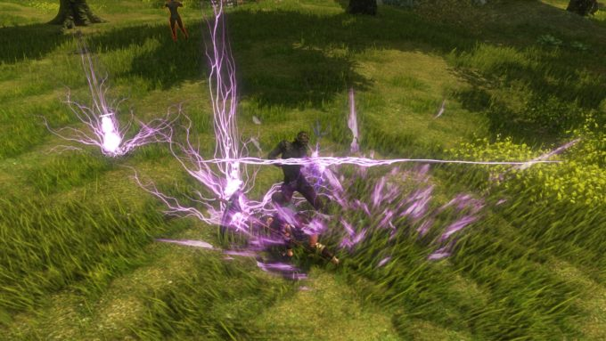 Fighting quest mobs in the shuttered action MMO Dragon's Prophet
