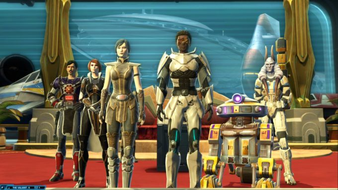 My Jedi knight alt in Star Wars: The Old Republic