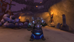 A shaman in World of Warcraft, a class once known for its buffing skills