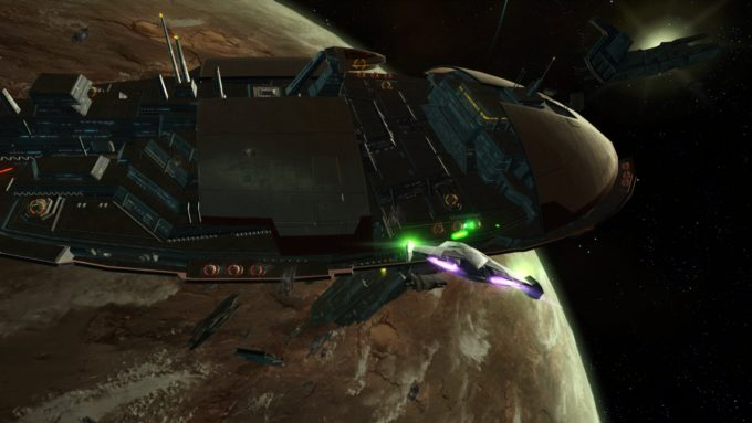 A space combat mission in Star Wars: The Old Republic, a game with many modern conveniences